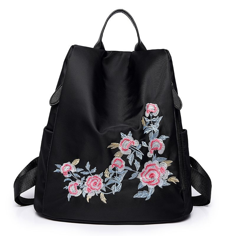 46be4c0509c0 Fashion national wind embroidered ladies backpack waterproof travel  shoulder