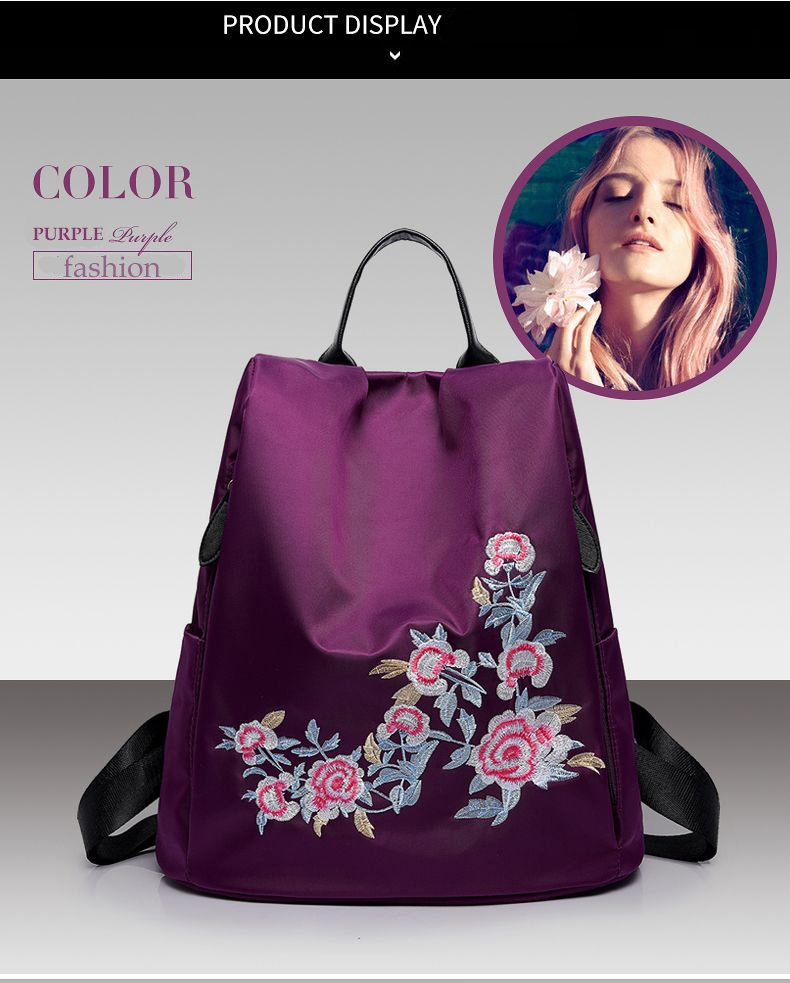 477225d1d9a5 Kilimall  Fashion national wind embroidered ladies backpack ...