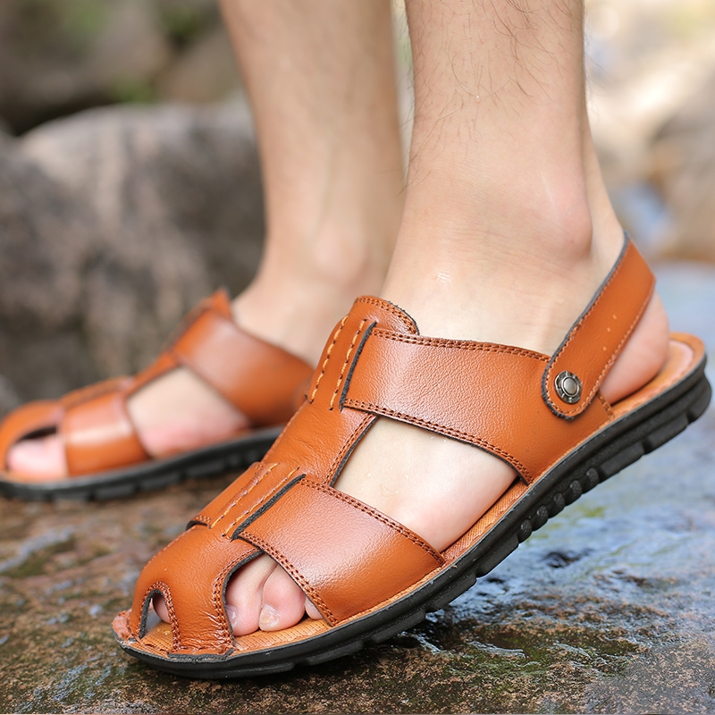 0e824299f ... Slippers Beach Casual Shoes Open Cool brown 41  Product No  3143762.  Item specifics  Brand
