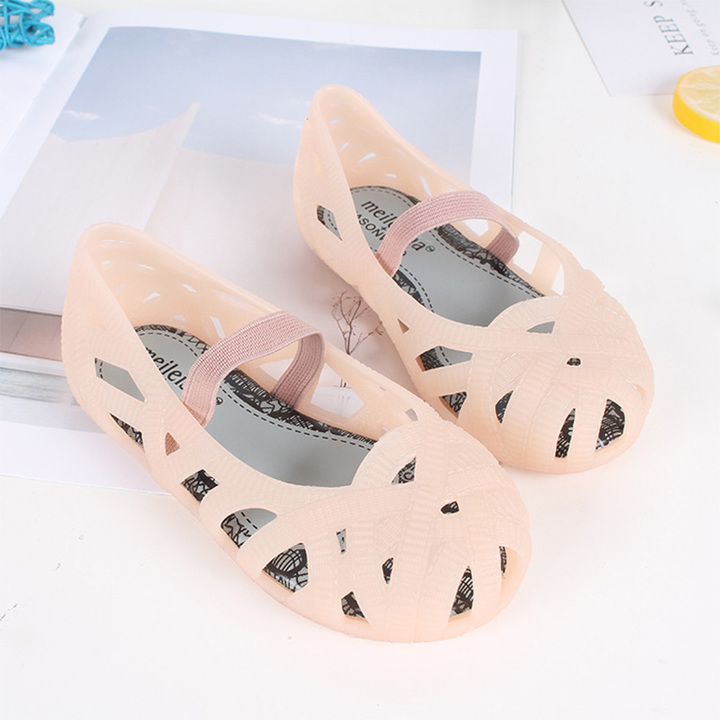 571917e08 HiDook Summer Children s Solid Color Sandals Girls Beach Shoes Princess Mesh  Hole pink 24