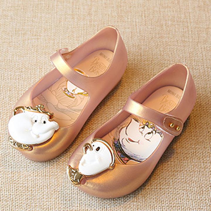 HiDook Non-slip Lightweight Mini Jelly Sandals Children Girls Princess Cute  Animal Dance Shoes pink 290e4eac9d26