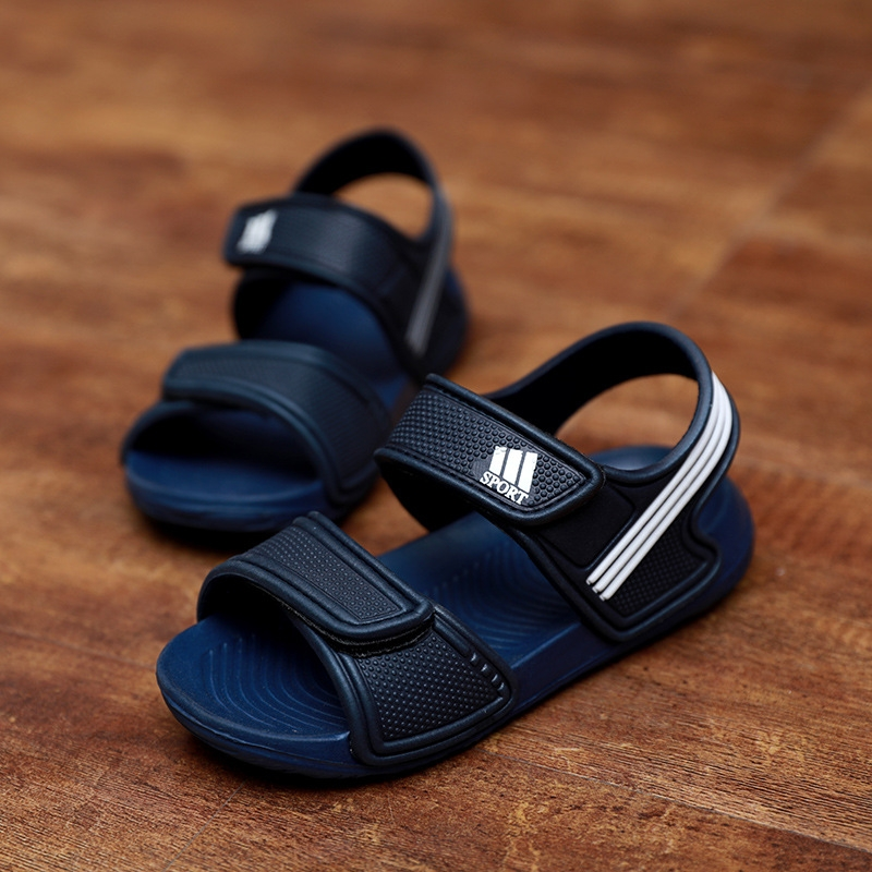 1a513cfd8a5e HiDook Summer Kids Non-slip Sports Sandals Baby Boy Girl Fashion Breathable  Cute Velcro Beach Shoes blue 25  Product No  7287008. Item specifics  Brand