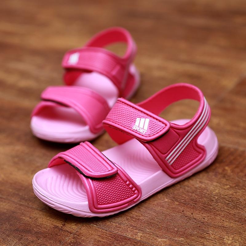9cdfe7c55fefc8 HiDook Summer Kids Non-slip Sports Sandals Baby Boy Girl Fashion ...