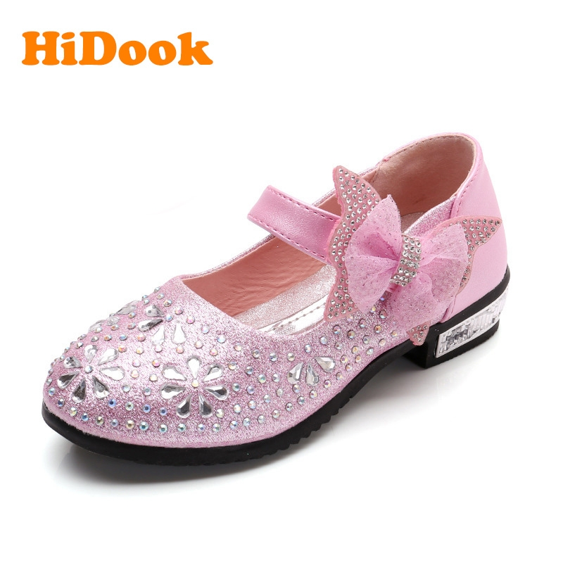 fd4dea7ba7f9 HiDook New Girls Princess Rhinestone Bow Shoes Childrens Kids Students Wedding  Dress Party Shoes pink 1 26  Product No  4564866. Item specifics  Brand