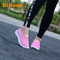 HiDook Women Mesh Sneakers Hollow Outdoor Sport Walking Running Light Shoes Students Loafers pink 40