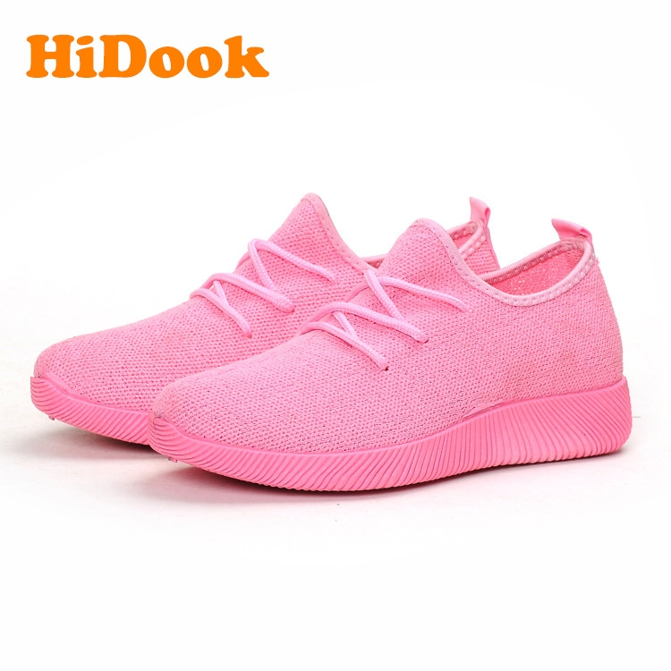94d1f8a7bf9a HiDook Soft Bottom Light Large Size Shoes Spring Summer Women Girl ...