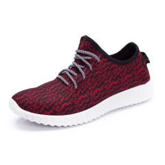 Men Running Shoes Light Sport Women Lovers School Fashion Sneakers Breathable Lady Athletic Big Size Black Red 39