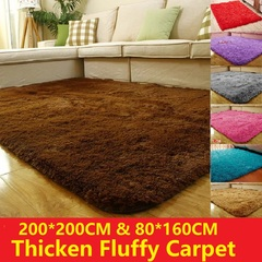 200*200CM 80*160CM Ultra Soft Area Rugs Fluffy Living Room Carpet Kids Anti-Skid Bedroom Floor mats Deep Brown 200*200cm