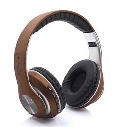 Wireless Bluetooth Headphone Sports Foldable Earphone Headset Microphone Stereo Bass Samsung Iphone Brown
