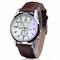 Genuine Yazole Leather Men Watch Man Luxury Quartz Stainless Steel Wrist Watches Wristwatch Gift White Brown One Size