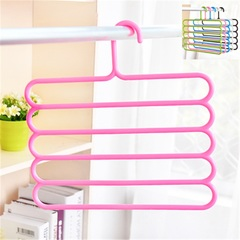 Pants Hanger Holder Hanging Organizers Drying Racks Trouser Ties Scarves Towel Clothes Good Pink