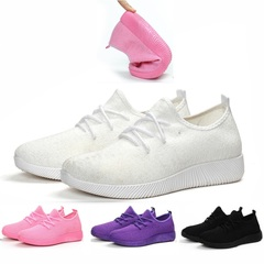 Lady Sport Shoes Fitness Athletic Sneakers Women Running Gym Light Casual Soft Woman Big Small Size White 41