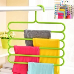 Pants Hanger Holder Hanging Organizers Drying Racks Trouser Ties Scarves Towel Clothes Good Green