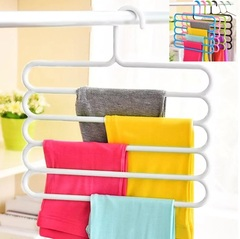 Pants Hanger Holder Hanging Organizers Drying Racks Trouser Ties Scarves Towel Clothes Good White