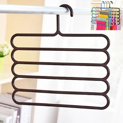 Pants Hanger Holder Hanging Organizers Drying Racks Trouser Ties Scarves Towel Clothes Good Brown
