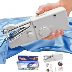 Mini Portable Sewing Machine Household Items Handheld Stitching Sew Machin Handy StiTch Needles Work White One Size