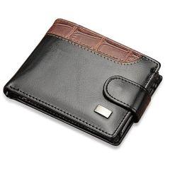 Men Leather Wallet Male Genuine Purse Zipper Money Clip Bag Short Small Credit Card Holder Coin Gift Black 11.5cm*8.5cm*2cm