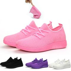 Lady Sport Shoes Fitness Athletic Sneakers Women Running Gym Light Casual Soft Woman Big Small Size Pink 37