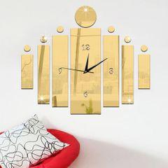 DIY 3D Wall Clock Decor Living Room Hanging Mute Digital Mirror Home Office Fashion Sticker Clocks Gold