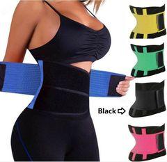 Waist Trainer Slimming Belt Slim Body Shaper Corset Trimmer Sport Gym Fat Burner Elastic Shapewear Black M (fit waist 26.8-29.5inch)