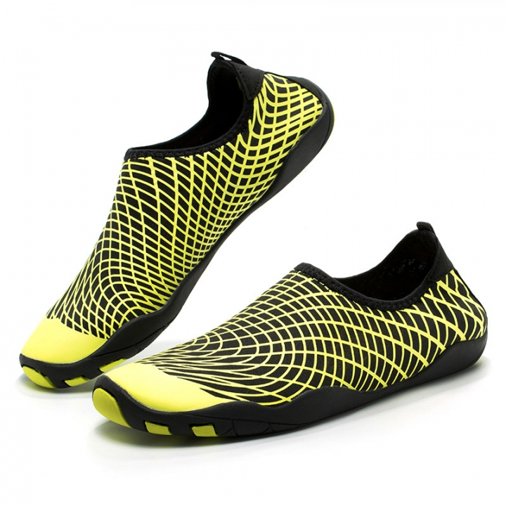 Fashion Beach Sneakers Quick-Drying Shoes Men's Water Shoes Outdoor Diving Swimming Shoes 39-46 Yellow 39