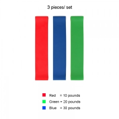 3-4 Pcs/Set Elastic Tension Resistance Exercise Bands For Fitness 4 Levels Rubber Loops ,Carry Bag Red,Green,Blue 50*5cm