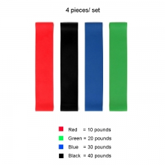 3-4 Pcs/Set Elastic Tension Resistance Exercise Bands For Fitness 4 Levels Rubber Loops+Carry Bag Red,Green,Blue,Black 50*5cm