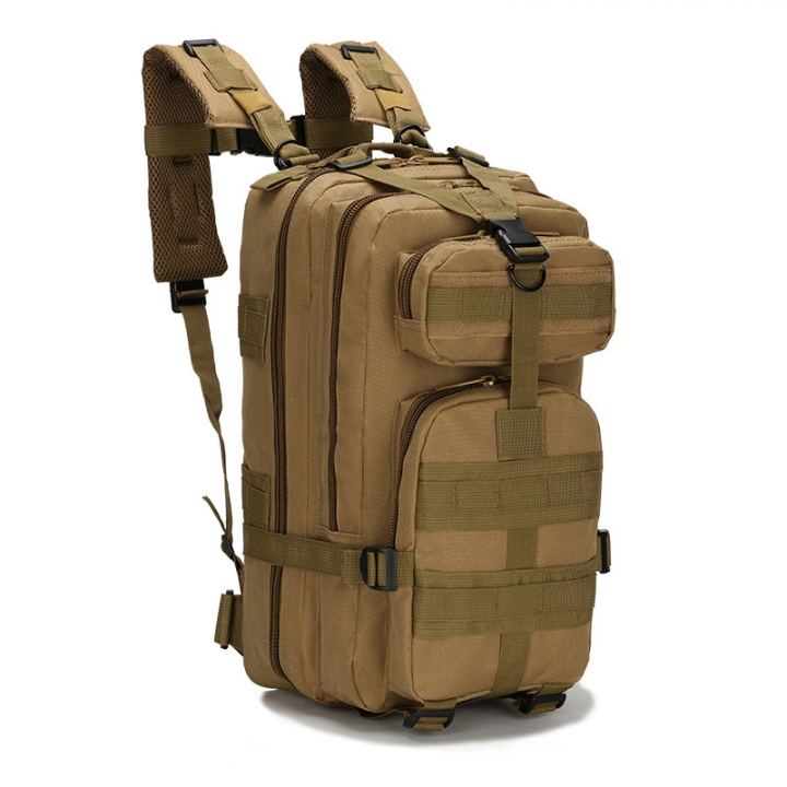 Waterproof Outdoor Sport Portable Backpack Durable Easy to Carry Large  Volume Oxford Fabric Material Khaki 20x25x40cm d6adee01591e0