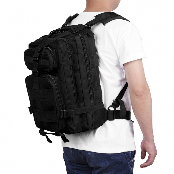 Waterproof Outdoor Sport Portable Backpack Durable Easy to Carry Large  Volume Oxford Fabric Material Black 20x25x40cm 731655a56ec87