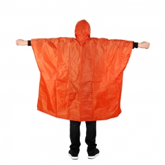 3 in 1 Multifunctional Raincoat Waterproof Camping Picnic Mat Cycling Raincoat  Backpack Rain Cover Orange