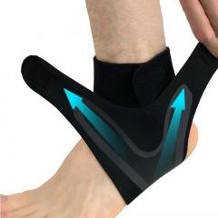 1 PCS Ankle Support ,Elasticity Free Adjustment Protection Foot Bandage,Sprain Prevention Guard Band 1pcs Black Left EU 34- 37