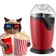 1200W Electric Mini Household Popcorn Maker Machine Automatic Fast Popcorn Home Use For Kids Red EU Plug 220V