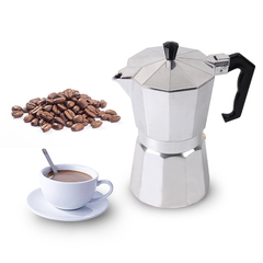 9 Cups 450ml Mocha Espresso Maker Aluminum Percolator Coffee Pot Silver 9 Cups 450ml