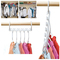 2 Pcs Space Saving Hanger Plastic Cloth Hanger Hook Magic Clothes Hanger Hook Closet Organizer White