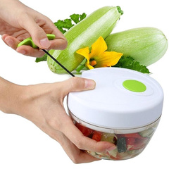 Manual Pull Rope Quick-Cutting Machine Baby Food Shredder Kitchen Accessories Fruit Vegetable Tool White