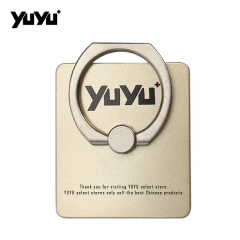 YUYU Phone grip stand Ring plus a hook for phone Golden One size
