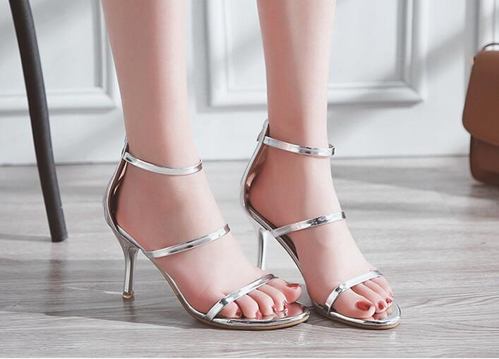 fcebcc43a Item specifics  Seller SKU H-0001S35  Brand  SOHI. Metallic Strappy Sandals  Silver Gold Platform Gladiator ...