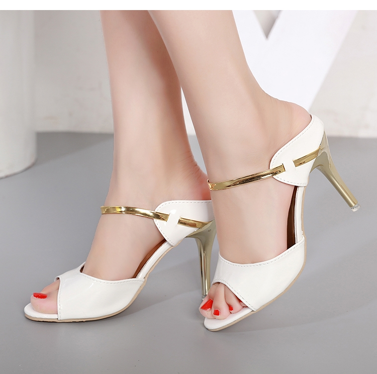 aefea2e89 Heel Type  Thin Heels Upper Material  PU Style  Sexy Pump Type  Basic  Season  Spring Autumn Toe Shape  Peep Toe Fashion Element  Bling Heels  Hight  9cm