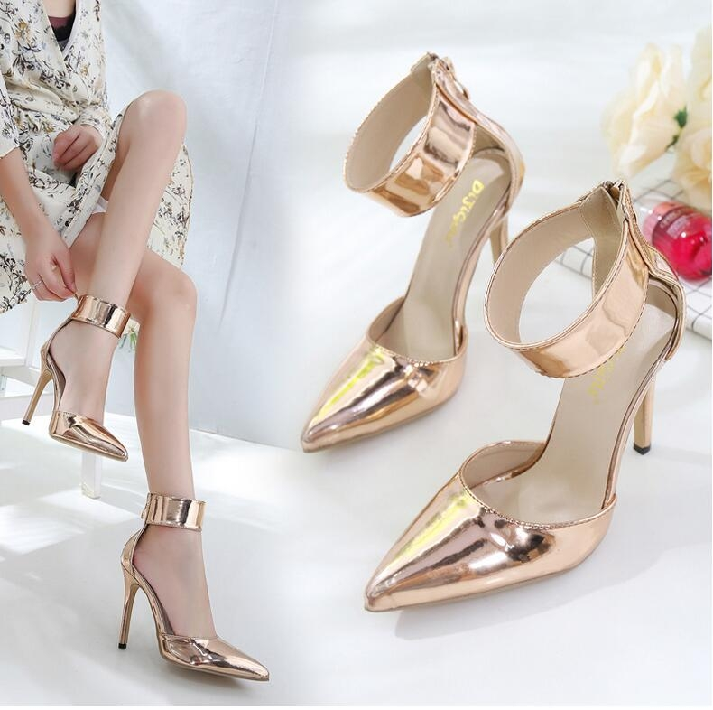 Item specifics  Seller SKU H-0026C40  Brand  2018 Women Pumps Zipper Pointed  Toe High Heels Sexy Lady Shoes ... dca404955aa6
