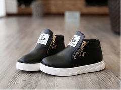 2018 new winter and autumn boots Martin boots boy boy boots black 26