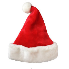 Christmas hat Short Plush hat Santa hat Christmas adult hat Christmas supplies red 25*35