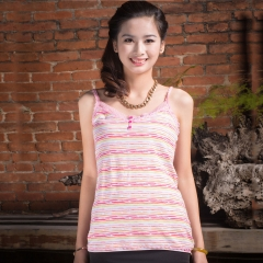 Knitted Strap Tank Women Camisole Vest Simple Stretchable V Neck Slim Sexy Camisoles Summer Tops Pink S