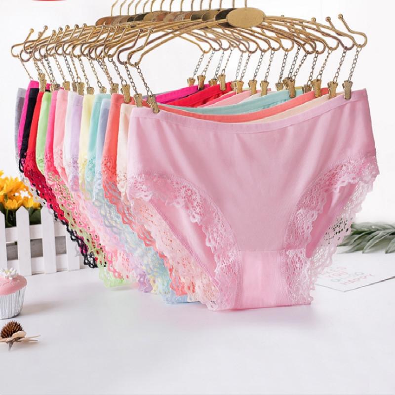 95b8fadb04 5 Packs Women Sexy Bamboo Fiber Soft Bikini Panties Underwear Lace Side  Cotton Briefs Elastic Soft 5Packs Random from 15 Colors L  Product No   7871302. Item ...