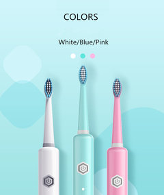 Smart sonic USB rechargeable electric toothbrush good quality with factory promotion price white