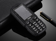 2.4''Dual Flashlight Rugged Outdoor Shockproof Dual SIM Big Voice Long Standby Power Bank Cell Phone black