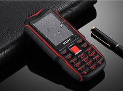 2.4''Dual Flashlight Rugged Outdoor Shockproof Dual SIM Big Voice Long Standby Power Bank Cell Phone red