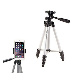 Universal Portable Tripod Stand with mobile phone holder for DSLR Cameras Nikon Canon Sony brand black as specification