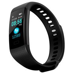 Smart Bracelet Heart Rate Activity Fitness Tracker Bracelet Watch Sport Silicone Strap Wristband black one size