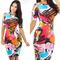 Africa 2018 new European and American sexy nightclub dress print dress Dashiki skirt xl as picture