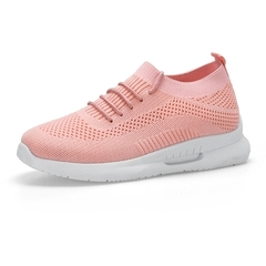 Kztown New Women Shoes Casual Fashion Sport Shoes Breathable Runing Sneakers pink 40